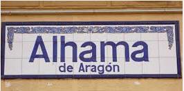 Alhama-sign Alhama de Aragon