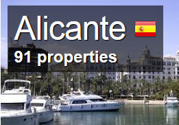 Alicante-Accommodation bowls map alicante