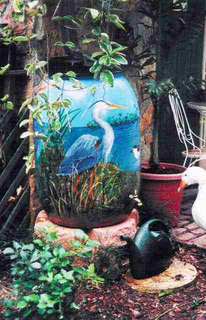 Decorated barrel Rain Water Barrels