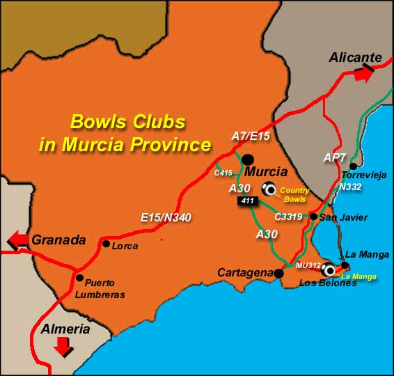Costa del Sol Bowls Clubs information Spain Spain Info