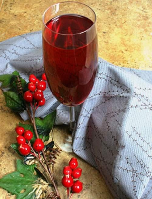 Poinsettia cocktail poinsettias