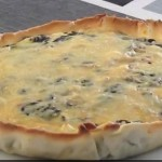 Spinach feta cheese pie cooking spanish style