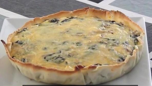 Spinach feta cheese pie