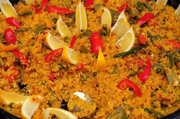 Vegetable-paella