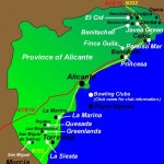 bowls-map-alicante Sporting Holidays