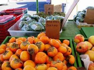 persimon market stall