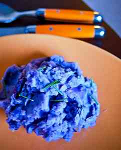 potatoes Blue mashed potatoes