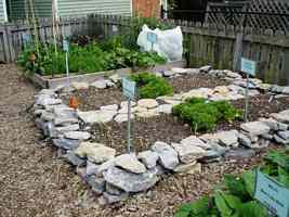 rock raised GARDEN no dig garden