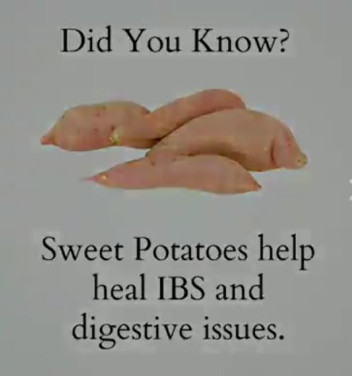 sweet potatoes help IBS