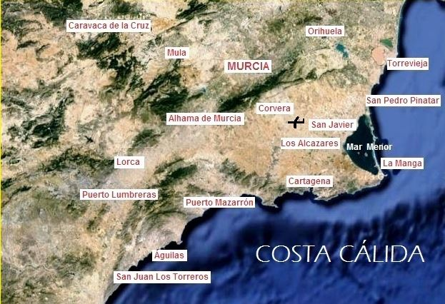 Map Of Spain La Manga.Campsites Costa Calida Quick Guide To Where They Are Spain Info