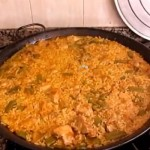 Spanish Paella cooking spanish style