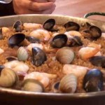 Seafood-Paella cooking Spanish style