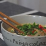 Coconut chicken thai soup cooking spanish style