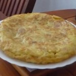 Tortilla Omelete cooking spanish style