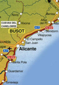 Caves-Busot-map Spanish Caves
