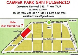 San Fulgencio map camper site