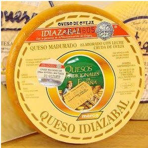 Idiazabal v Cheese Spain Index