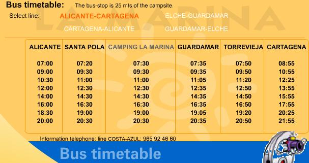 International-La-Marina-timetable International Complex