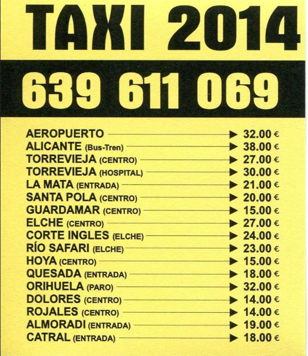 Taxi-Rates-to-from-La-Marina