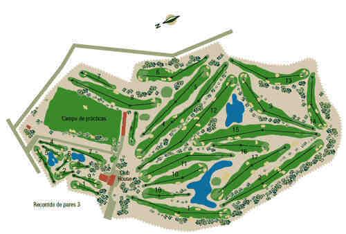 El Plantio course map