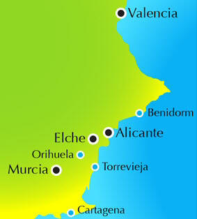 map alicante golf
