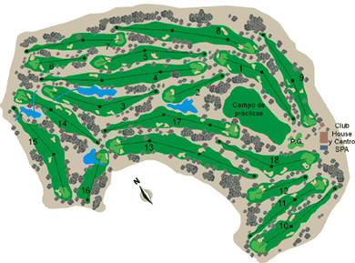 map club de Campo del Mediterraneo