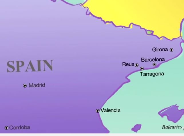 Map Of Spain Showing Salou.Map Salou Spain Info