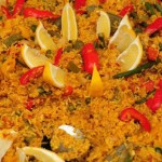 Vegetable-paella cooking spanish style