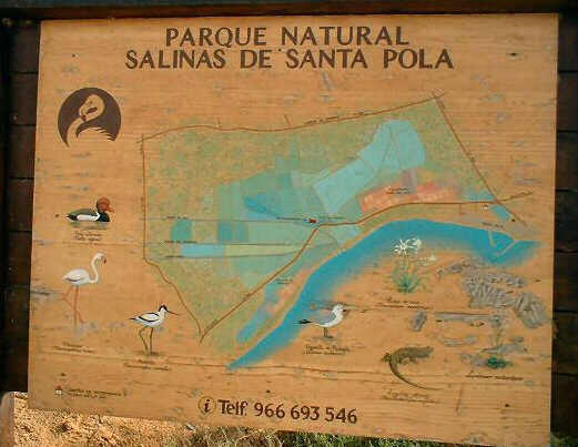 PLAQUE Santa Pola Natural Park