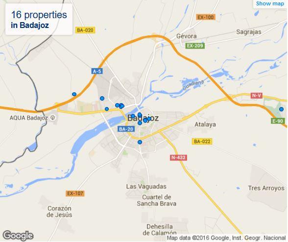 hotels map Go Karts Extremadura