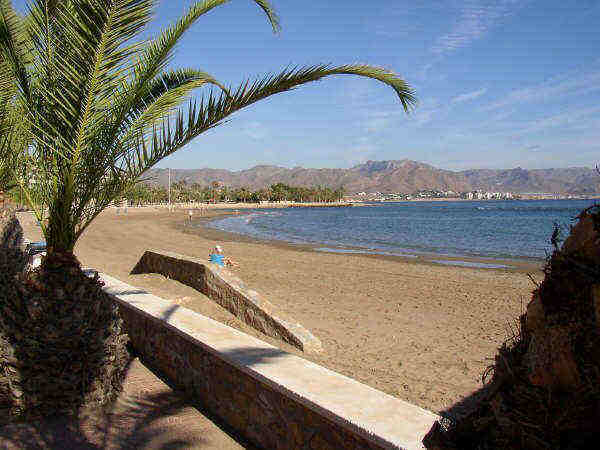Local Mazzoran beach Mazarron