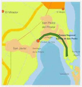 Map Regional Park San Pedro del Pinatar Regional Park San Pedro del Pinatar