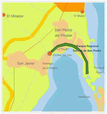 Map Regional Park San Pedro del Pinatar