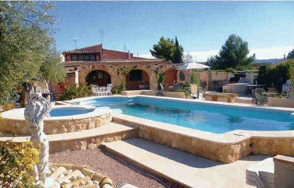 Holiday-Home-Pedania-Pool Spanish Fishing