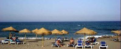 mojacar beach scene