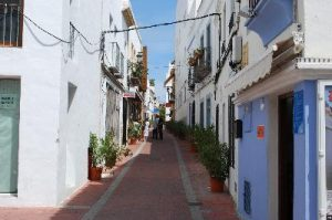 moraira narrow streets town view