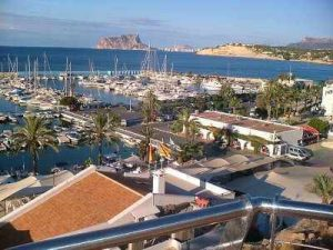 moraira view to calpe over harbour