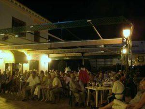 Asurias outside night scene