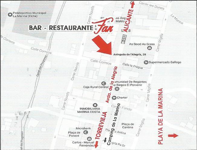 map fan La Marina