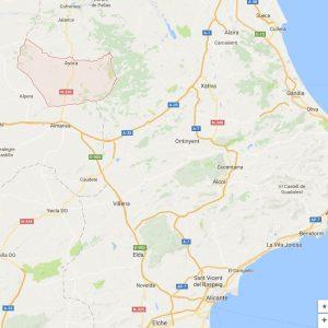 Map-Ayora Ayora Valley