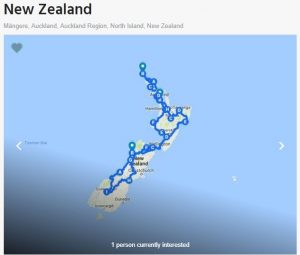 New Zealand map motorbike tour