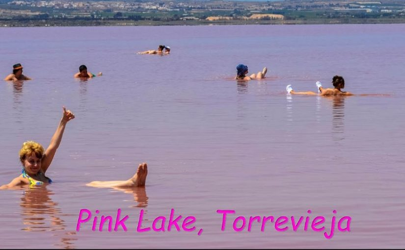 pink lake Los Balcones