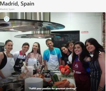 Culinary cooking Madrid