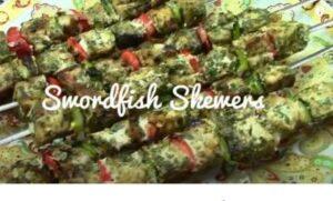 Swordfish Mediterranean Skewers