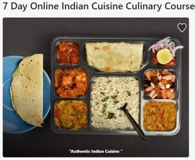 online Indian cooking course