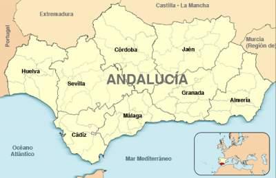 Andalucía map